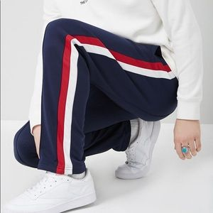 Side stripped track pants